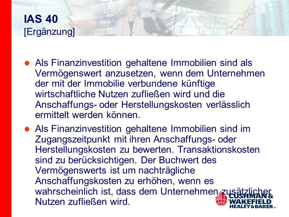 IAS 40 [Ergänzung]